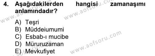 Hukuk Dili Ve Adli Yazışmalar Dersi 2012 - 2013 Yılı (Vize) Ara Sınavı 4. Soru