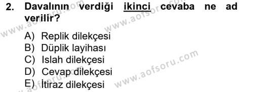 Hukuk Dili Ve Adli Yazışmalar Dersi 2012 - 2013 Yılı Dönem Sonu Sınavı 2. Soru