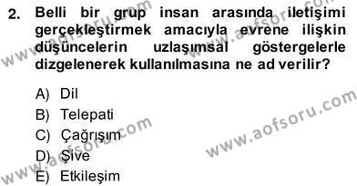 Adalet Bölümü 2. Yarıyıl Hukuk Dili Ve Adli Yazışmalar Dersi 2014 Yılı Bahar Dönemi Ara Sınavı 2. Soru