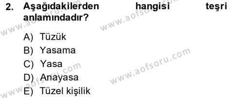 Hukuk Dili Ve Adli Yazışmalar Dersi 2013 - 2014 Yılı (Final) Dönem Sonu Sınavı 2. Soru