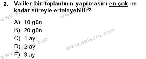 Adalet Bölümü 2. Yarıyıl İdari Yargı Dersi 2014 Yılı Bahar Dönemi Ara Sınavı 2. Soru