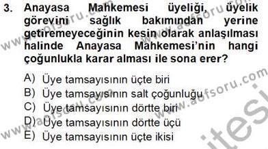 Adalet Bölümü 2. Yarıyıl İdari Yargı Dersi 2014 Yılı Bahar Dönemi Tek Ders Sınavı 3. Soru