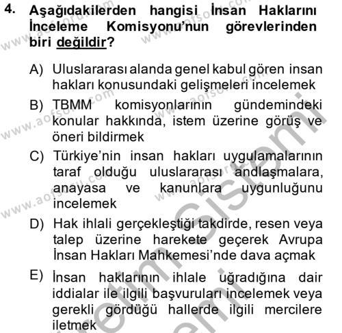 Adalet Bölümü 2. Yarıyıl İdari Yargı Dersi 2015 Yılı Bahar Dönemi Ara Sınavı 4. Soru