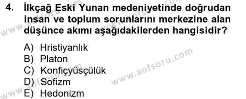 İnsan Hakları Ve Kamu Özgürlükleri Dersi 2012 - 2013 Yılı Dönem Sonu Sınavı 4. Soru