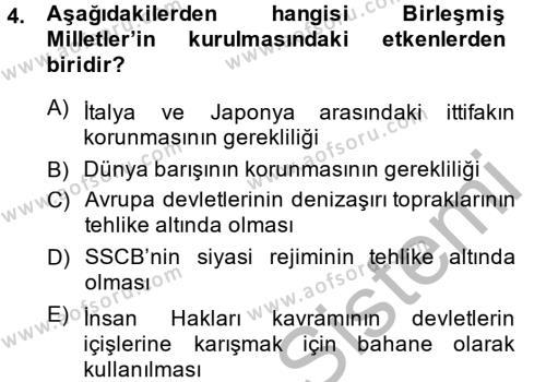 Adalet Bölümü 2. Yarıyıl İnsan Hakları Ve Kamu Özgürlükleri Dersi 2015 Yılı Bahar Dönemi Dönem Sonu Sınavı 4. Soru