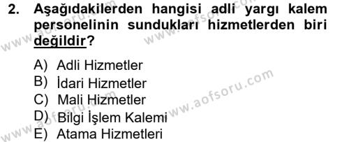 Kalem Mevzuatı Dersi 2012 - 2013 Yılı Ara Sınavı 2. Soru