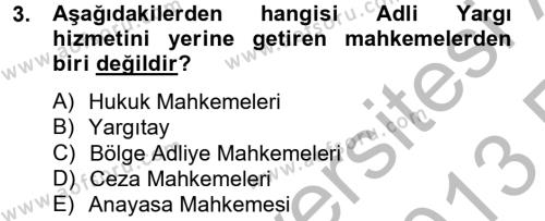 Kalem Mevzuatı Dersi 2012 - 2013 Yılı Ara Sınavı 3. Soru