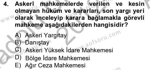 Kalem Mevzuatı Dersi 2012 - 2013 Yılı Ara Sınavı 4. Soru
