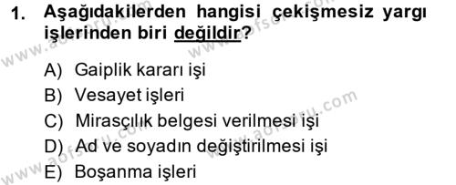 Kalem Mevzuatı Dersi 2013 - 2014 Yılı Ara Sınavı 1. Soru