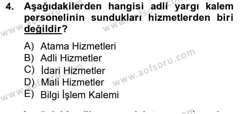Kalem Mevzuatı Dersi 2014 - 2015 Yılı (Vize) Ara Sınavı 4. Soru
