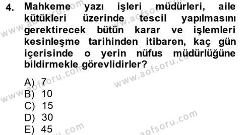 Kalem Mevzuatı Dersi 2014 - 2015 Yılı (Final) Dönem Sonu Sınav Soruları 4. Soru