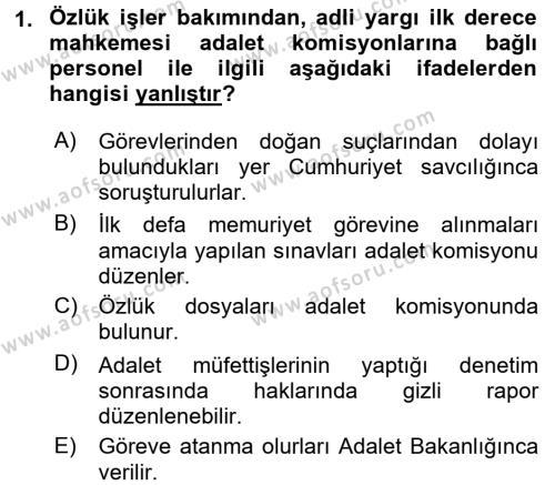 Kalem Mevzuatı Dersi 2015 - 2016 Yılı (Vize) Ara Sınavı 1. Soru
