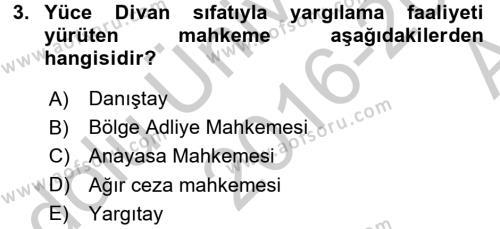 Kalem Mevzuatı Dersi 2016 - 2017 Yılı (Vize) Ara Sınavı 3. Soru