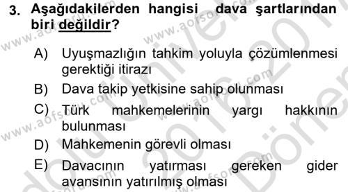 Kalem Mevzuatı Dersi 2016 - 2017 Yılı (Final) Dönem Sonu Sınavı 3. Soru