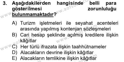 Adalet Bölümü 4. Yarıyıl Damga Vergisi Ve Harçlar Bilgisi Dersi 2013 Yılı Bahar Dönemi Ara Sınavı 3. Soru