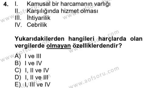 Damga Vergisi Ve Harçlar Bilgisi Dersi 2012 - 2013 Yılı (Final) Dönem Sonu Sınavı 4. Soru