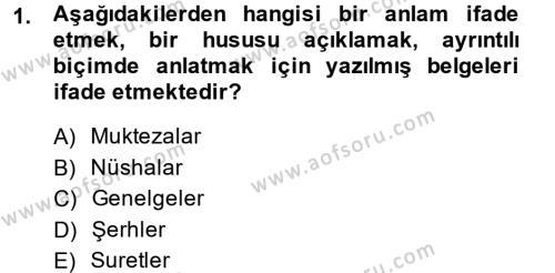 Damga Vergisi Ve Harçlar Bilgisi Dersi 2013 - 2014 Yılı (Vize) Ara Sınavı 1. Soru