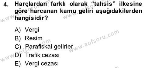 Damga Vergisi Ve Harçlar Bilgisi Dersi 2013 - 2014 Yılı (Final) Dönem Sonu Sınavı 4. Soru