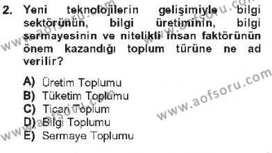 Adalet Bölümü 3. Yarıyıl Ulusal Yargı Ağı Projesi I Dersi 2013 Yılı Güz Dönemi Tek Ders Sınavı 2. Soru