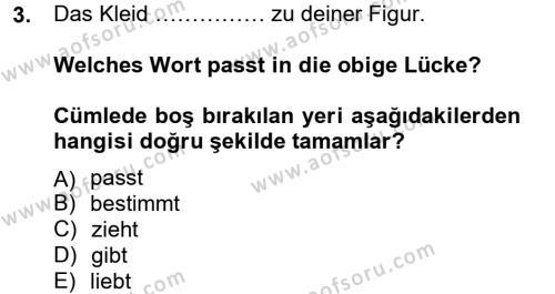 Menkul Kıymetler ve Sermaye Piyasası Bölümü 2. Yarıyıl Almanca II Dersi 2013 Yılı Bahar Dönemi Ara Sınavı 3. Soru