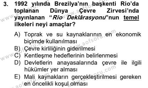 Kültürel Miras ve Turizm Bölümü 2. Yarıyıl Arkeolojik Alan Yönetimi Dersi 2013 Yılı Bahar Dönemi Ara Sınavı 3. Soru
