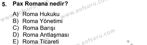 Kültürel Miras ve Turizm Bölümü 2. Yarıyıl Arkeolojik Alan Yönetimi Dersi 2013 Yılı Bahar Dönemi Dönem Sonu Sınavı 5. Soru