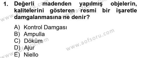 Ortaçağdan Günümüze Anadolu Uygarlıkları Dersi 2012 - 2013 Yılı Dönem Sonu Sınavı 1. Soru