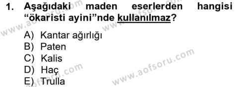 Ortaçağdan Günümüze Anadolu Uygarlıkları Dersi 2013 - 2014 Yılı Ara Sınavı 1. Soru