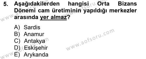 Ortaçağdan Günümüze Anadolu Uygarlıkları Dersi 2013 - 2014 Yılı Tek Ders Sınavı 5. Soru 1. Soru