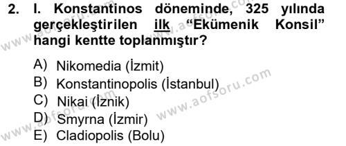 Ortaçağdan Günümüze Anadolu Uygarlıkları Dersi 2014 - 2015 Yılı (Vize) Ara Sınavı 2. Soru
