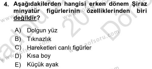 Ortaçağdan Günümüze Anadolu Uygarlıkları Dersi 2015 - 2016 Yılı Dönem Sonu Sınavı 4. Soru