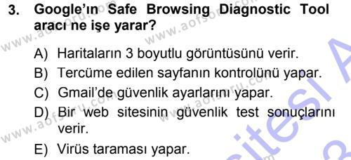 Temel Bilgi Teknolojileri 1 Dersi 2012 - 2013 Yılı (Final) Dönem Sonu Sınav Soruları 3. Soru
