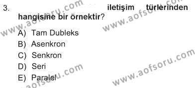 Tarih Bölümü 1. Yarıyıl Temel Bilgi Teknolojileri I Dersi 2013 Yılı Güz Dönemi Tek Ders Sınavı 3. Soru