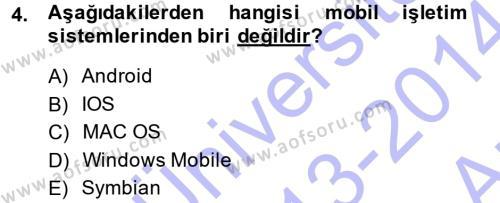 Temel Bilgi Teknolojileri 1 Dersi 2013 - 2014 Yılı (Vize) Ara Sınavı 4. Soru