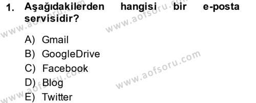 Coğrafi Bilgi Sistemleri ve Teknolojileri Bölümü 1. Yarıyıl Temel Bilgi Teknolojileri I Dersi 2014 Yılı Güz Dönemi Dönem Sonu Sınavı 1. Soru