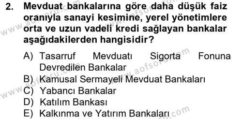 Bankacılık ve Sigortacılık Bölümü 4. Yarıyıl Banka Ve Sigorta Muhasebesi Dersi 2013 Yılı Bahar Dönemi Ara Sınavı 2. Soru