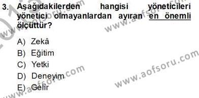Büro Yönetimi Dersi 2013 - 2014 Yılı Dönem Sonu Sınavı 3. Soru
