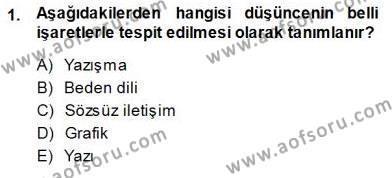 Mesleki Yazışmalar Dersi 2013 - 2014 Yılı Dönem Sonu Sınavı 1. Soru