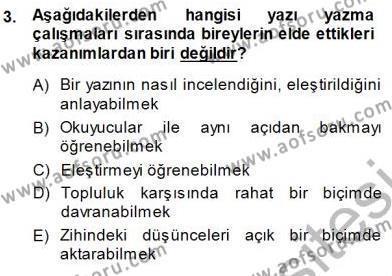 Mesleki Yazışmalar Dersi 2013 - 2014 Yılı Dönem Sonu Sınavı 3. Soru