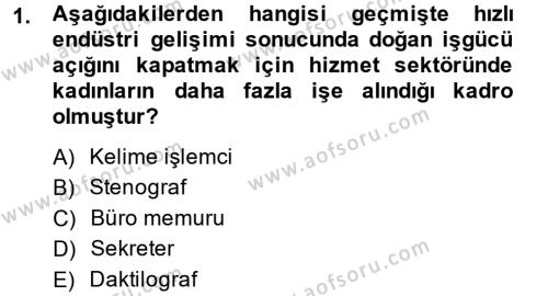 Yönetici Asistanlığı Dersi 2013 - 2014 Yılı Dönem Sonu Sınavı 1. Soru