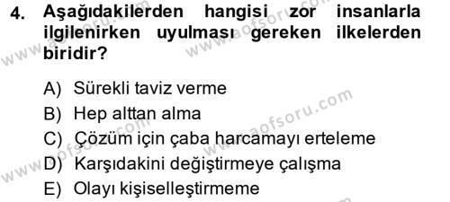 Yönetici Asistanlığı Dersi 2013 - 2014 Yılı Dönem Sonu Sınavı 4. Soru