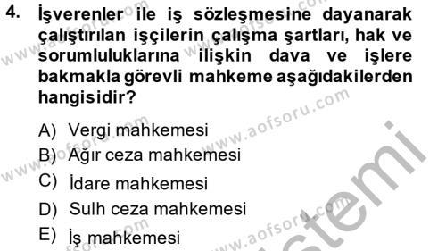 Kamu Özel Kesim Yapısı Ve İlişkileri Dersi 2012 - 2013 Yılı Dönem Sonu Sınavı 4. Soru
