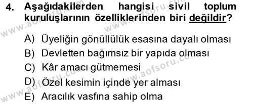 Kamu Özel Kesim Yapısı Ve İlişkileri Dersi 2013 - 2014 Yılı Ara Sınavı 4. Soru
