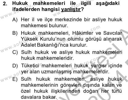 Kamu Özel Kesim Yapısı Ve İlişkileri Dersi 2013 - 2014 Yılı Dönem Sonu Sınavı 2. Soru