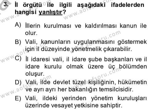 Kamu Özel Kesim Yapısı Ve İlişkileri Dersi 2013 - 2014 Yılı Dönem Sonu Sınavı 3. Soru