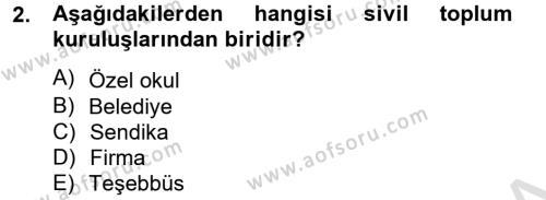 Kamu Özel Kesim Yapısı Ve İlişkileri Dersi 2013 - 2014 Yılı Tek Ders Sınavı 2. Soru