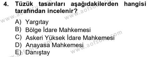 Kamu Özel Kesim Yapısı Ve İlişkileri Dersi 2013 - 2014 Yılı Tek Ders Sınavı 4. Soru