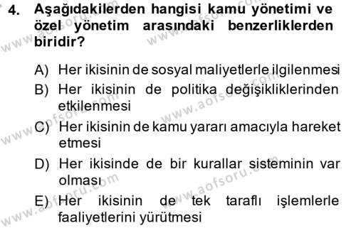 Kamu Özel Kesim Yapısı Ve İlişkileri Dersi 2014 - 2015 Yılı Ara Sınavı 4. Soru