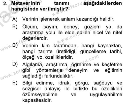 Konumsal Veritabanı 1 Dersi 2017 - 2018 Yılı Ara Sınavı 2. Soru