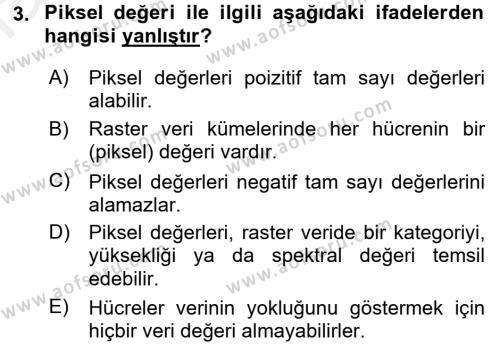 Konumsal Veritabanı 2 Dersi 2017 - 2018 Yılı (Final) Dönem Sonu Sınav Soruları 3. Soru